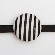 Cream and Black Stripe